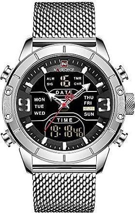 NAVIFORCE Relógio Masculino Naviforce NF9153 SB Pulseira em Aço - Inox