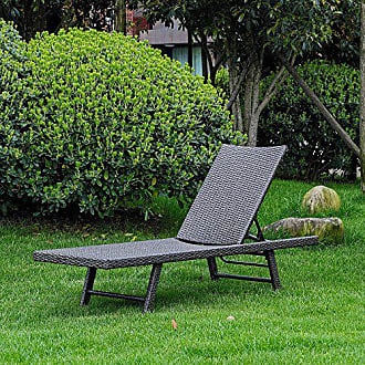 International Caravan Inc YF-9035-CL-AGY-IC Furniture Piece Barbados Resin Wicker Multi-Position Chaise Lounge