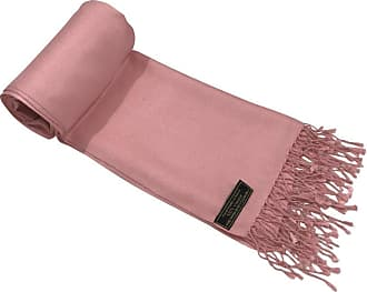 CJ Apparel Coral Pink Solid Colour Design Nepalese Shawl Seconds Scarf Wrap Stole Throw Pashmina Pashminas NEW