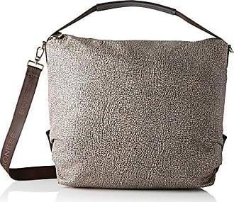 Borbonese aspen bag medium, borsa a spalla donna, nero, 40x31x17. 5 cm (w x h x l)