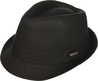 561a32ff4a29e2 Van Heusen Twill Herringbone Mens Fedora Hat, Lightweight, Black, Large /XLarge