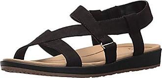 Dr. Scholls Womens Preview Sandal, Black Microfiber, 6.5 M US