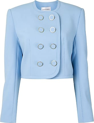 George Keburia fitted double-breasted jacket - Azul