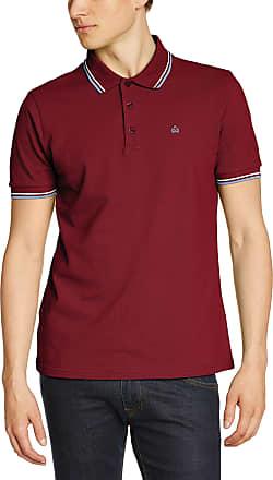 Merc Merc of London Mens CARD, Polo Shirt Plain Polo Short Sleeve Polo Shirt, Red (claret/harmony), Large