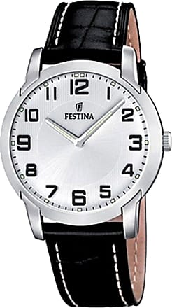 Festina Watch for Men, Black, Leather, 2017, One Size