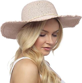 Tom Franks Ladies Sequined Summer Hat with Pink & Beige Trim