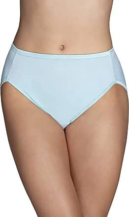 Vanity Fair Womens Illumination Hi Cut Panty 13108 Briefs, Beachside Aqua, L