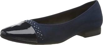 Jana Womens 8-8-22166-23 Closed Toe Ballet Flats, Blue Navy 805 0, 4 UK