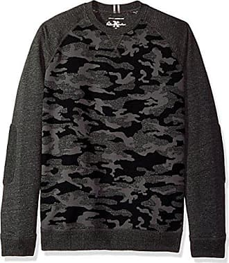 Robert Graham Mens Mooers Long Sleeve Crew Kneck Knit, Charcoal, 2XLARGE