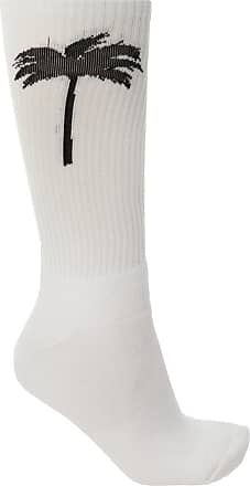 Palm Angels Jacquard Socks Mens White