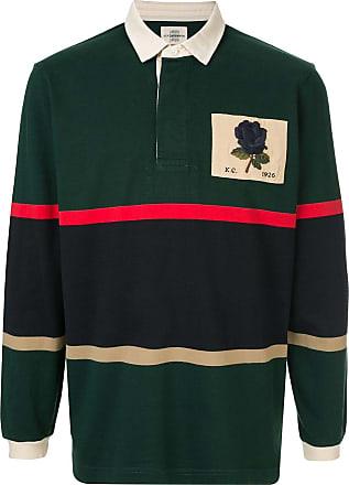 Kent & Curwen Veasley rose patch rugby shirt - Verde