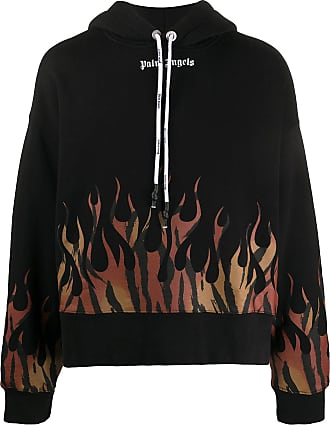 Palm Angels Hooded sweatshirt with flame print