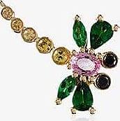 Yvonne Léon Womens Gold/green/pink 18k Yellow Gold Dragonfly Sapphire Single Earring