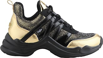Buffalo Women Trainers CAVI, Ladies Low-Tops, Low Shoe,Street Shoe,Lacer,Sport Shoe,Platform Sole,Leisure,Gold,38 EU / 5 UK