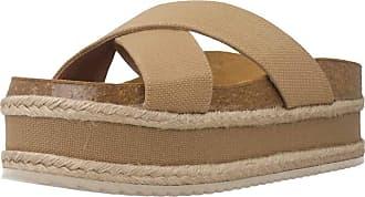 Yellow Women Sandals and Slippers Women FIRA Light Brown 7.5 UK