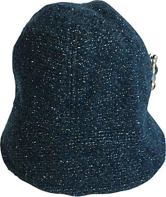 Chanel Hat In Green Tweed With Gold Thread And Molten Glass Jewel a74bf261cc3