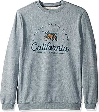 Rip Curl Mens Chest Logo Crew Sweater, Blue, S