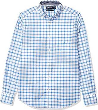 Nautica Mens Long Sleeve Horizontal Stripe Oxford Button Down Shirt