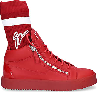 Giuseppe Zanotti Sneaker high MAY LONDON Glattleder Logo rot 52195d1e5c