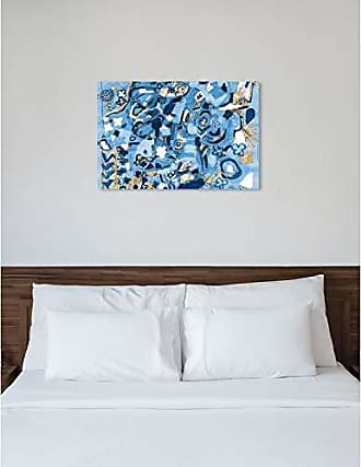The Oliver Gal Artist Co. The Oliver Gal Artist Co. Abstract Wall Art Canvas Prints Mediterranean Blues Home Décor, 45 x 30, Gold