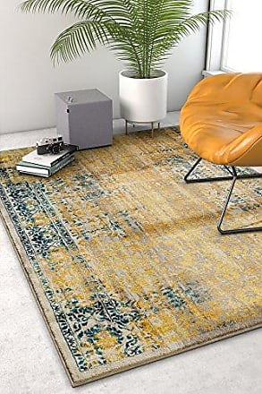 Well Woven LA-11-7 Laurent Stratton Modern Vintage Eclectic Yellow 710 x 910 Area Rug