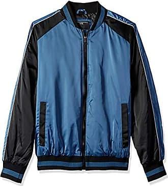 Urban Republic Mens Heavy Poly Satin Jacket, Real Teal, M