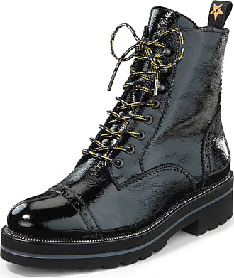 Paul Green Lace-up ankle boots perforations Paul Green black