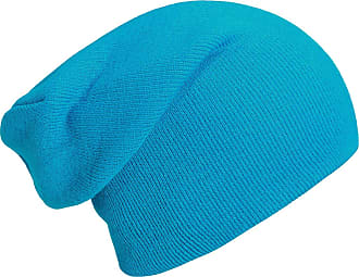 DonDon winter hat slouch beanie warm classical design modern and soft turquoise