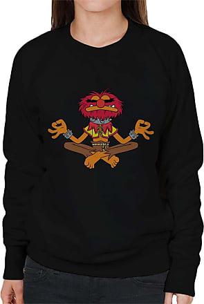 Disney Classic The Muppets Animal Total Zen Womens Sweatshirt Black