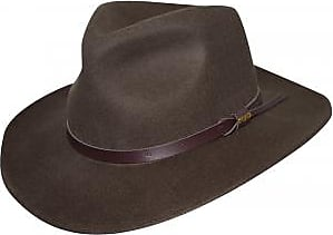36d89f3cafb Dorfman Pacific Mens Crushable Wool Felt Outback Hat