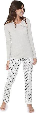 b5287fdb7 Cor com Amor Pijama Cor com Amor Bolso com Urso Cinza Branco