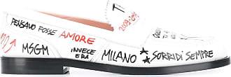 Msgm sketch print loafers - White
