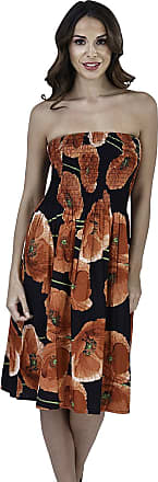 Lora Dora Ladies Floral Casual Summer Dress Red Poppies M