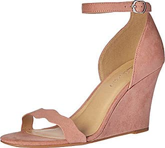 Chinese Laundry Womens Best Match Wedge Pump Sandal, Dusty Rose Super Suede, 9 M US