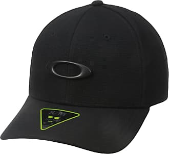 Oakley Mens TINCAN Cap Hat, Black/Carbon Fiber, X-Large