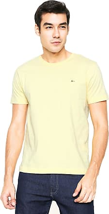 Aramis Camiseta Aramis Regular Fit Bordado Amarela