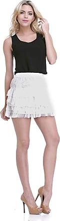 Clara Arruda Saia Clara Arruda Babado 40001 - P - Off White