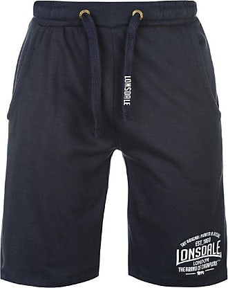Lonsdale Mens Boxing Shorts Training Tracksuit Bottoms Sports Trousers - Blue - Small
