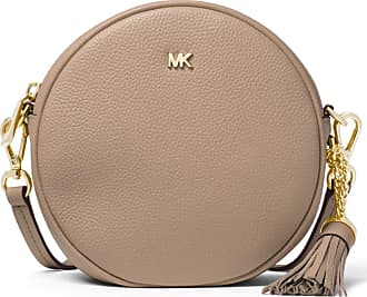 Michael Kors TRACOLLA MERCER MEDIA IN PELLE MARTELLATA 35 colore TRUFFLE b22667a6558
