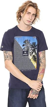 Gangster Camiseta Gangster Estampada Azul-Marinho