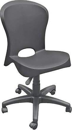 Tramontina Cadeira Plástica Jolie Preta Com Rodizio Em Nylon Tramontina 92070/009