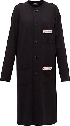 Raf Simons Collarless Cotton-jersey Dress - Womens - Black