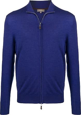 N.Peal fine knit zipped sweatshirt - Blue