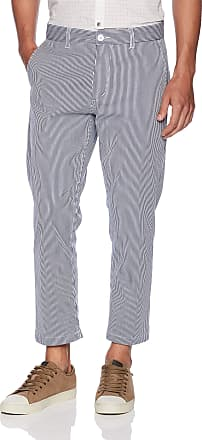 Obey Mens Straggler Stripe Flooded Pant Casual, Navy Multi, 34