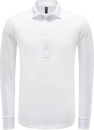 04651/ Longsleeve Poloshirt weiß bei BRAUN Hamburg