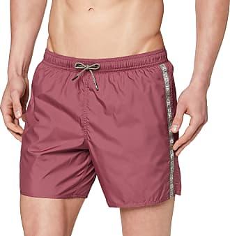 Emporio Armani Mens Boxer Beachwear Logo Tape Swim Trunks, Red (Terracotta 06562), Medium (Size: 50)