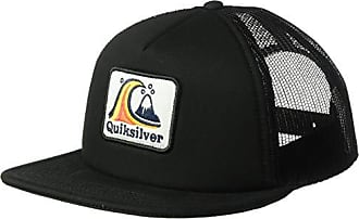 low cost 09264 6677b Quiksilver Mens BUSTERED HAT, Black, 1SZ