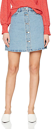 Noisy May Womens Nmsunny Shortdnm Skater Skirt Gu124 Noos, Blue (Light Blue Denim Light Blue Denim), 38 (Size: Medium)