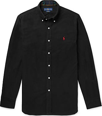 Polo Ralph Lauren Slim-fit Button-down Collar Brushed-cotton Shirt - Black