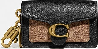 Coach Mini Tabby Bag Charm In Signature Canvas in Black
